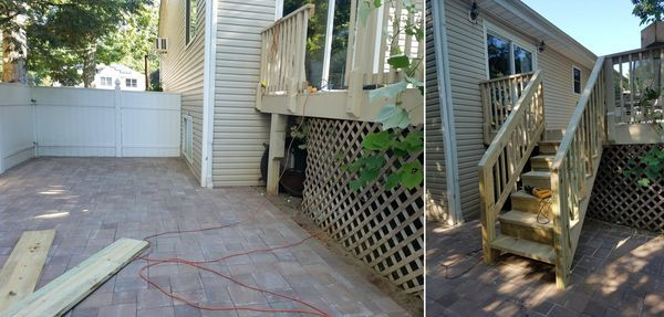 Before & After Deck Building in Kearny, NJ