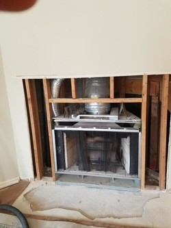 Before & After Gas Fireplace Addition in Guttenberg, NY