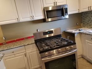 Kitchen Renovations in West New York, NJ Before & After Kitchen Back Splash Installation (1)
