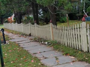 Before & After Fence Painting in Guttenberg, NJ (1)