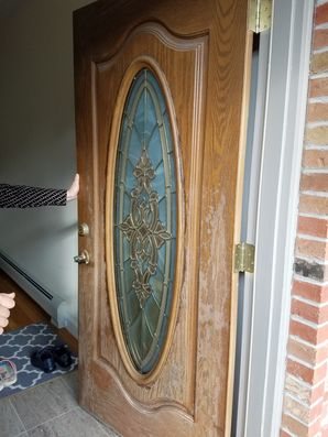 Staining A Door in Guttenberg, NJ (1)