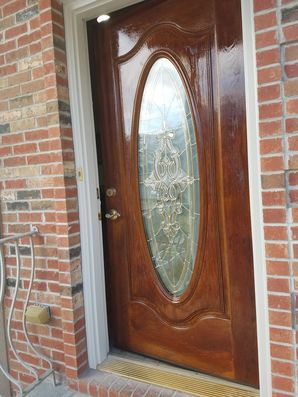 Staining A Door in Guttenberg, NJ (2)