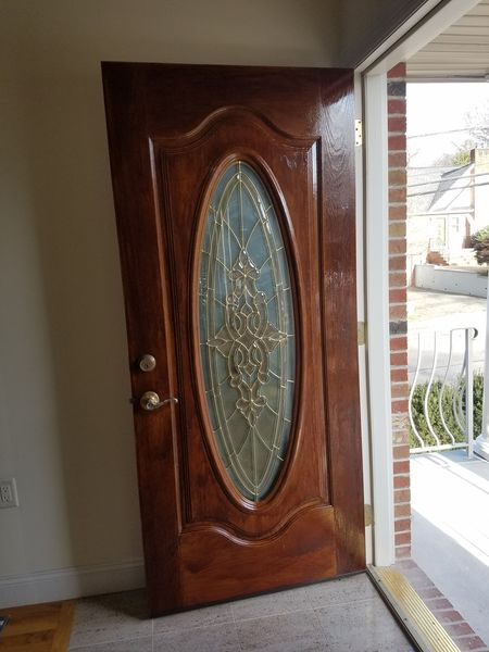 Staining A Door in Guttenberg, NJ (3)